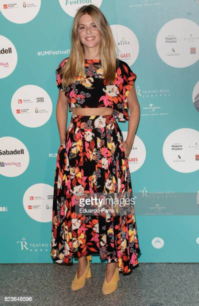 Actress Manuela Velasco attends James Rhodes concert at the Royal Theatre on July 27 2017 in Madrid Spain