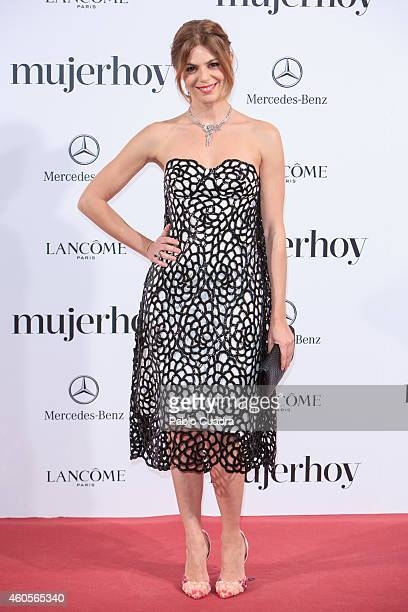 Actress Manuela Velasco attends 'Mujer Hoy' awards gala at Palace Hotel on December 16 2014 in Madrid Spain
