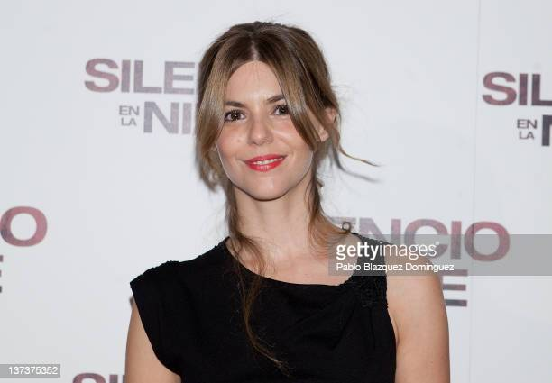 Actress Manuela Velasco attends 'Silencio en la Nieve' Premiere at Capitol Cinema on January 19 2012 in Madrid Spain
