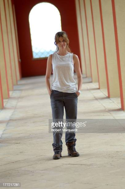Actress Manuela Velasco poses for a private portrait session on the set of her latest movie 'Rec 4 Apocalipsis' being filmed at Parc Audiovisual de...