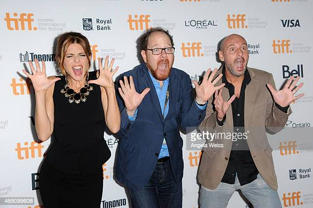 Actress Manuela Velasco TIFF Docs and Mavericks Programmer Thom Powers and Jaume Balaguero attend the '[REC]4 Apocalypse' premiere during the 2014...