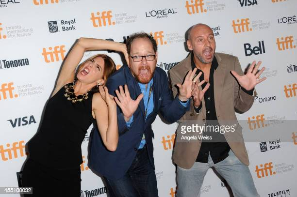 Actress Manuela Velasco TIFF Docs and Mavericks Programmer Thom Powers and director/screenwriter Jaume Balaguero attend the '[REC]4 Apocalypse'...