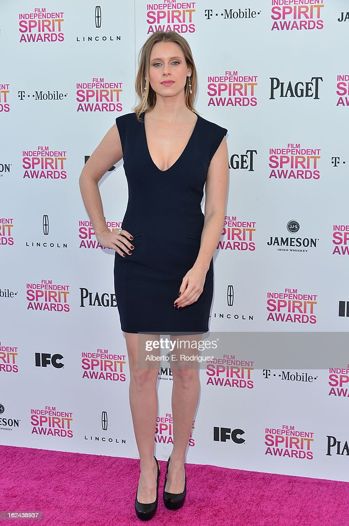 Actress Manuela Velles attends the 2013 Film Independent Spirit Awards at Santa Monica Beach on February 23, 2013 in Santa Monica, California.