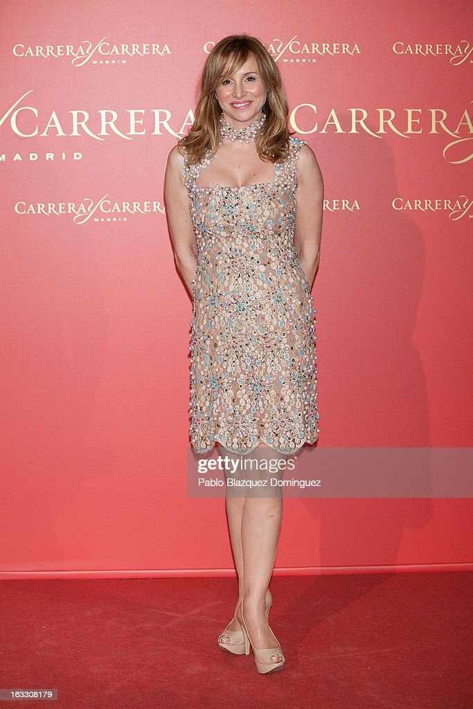 Actress Mar Reguera attends 'Maja de los Goya Awards 2012' at Fernan Nunez Palace on March 7, 2013 in Madrid, Spain.