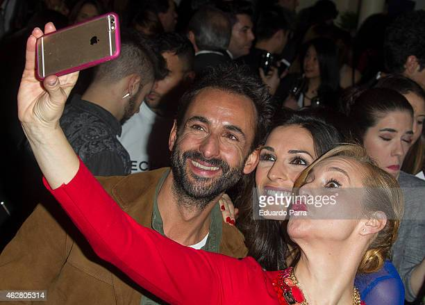 Actress Mar Regueras and model Veronica Hidalgo attend 'Yo Dona' party at Shoko disco on February 5 2015 in Madrid Spain