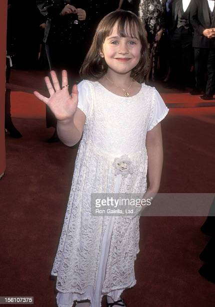Actress Mara Wilson attends the 67th Annual Academy Awards on March 27 1995 at Shrine Auditorium in Los Angeles California