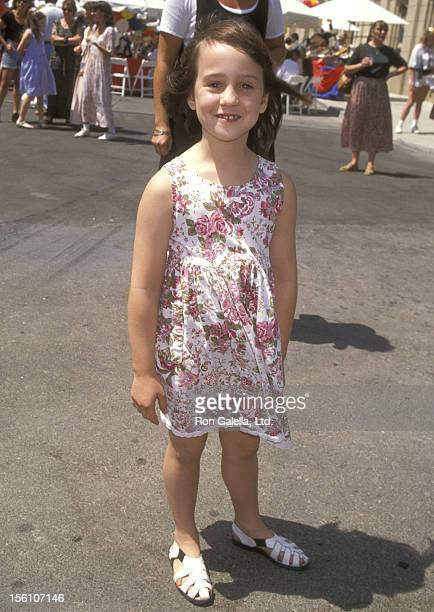 Actress Mara Wilson attends 'The Amazing Panda Adventure' Burbank Premiere on August 20 1995 at Warner Bros Studios in Burbank California