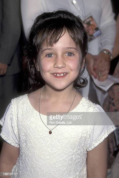 Actress Mara Wilson attends the 'Nine Months' Century City Premiere on July 11 1995 at Cineplex Odeon Century Plaza Cinemas in Century City California