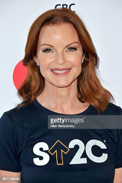 Actress Marcia Cross arrives at the Hollywood Unites for the 5th Biennial Stand up to Cancer A Program Of The Entertainment Industry Foundation at...