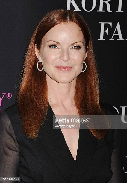 Actress Marcia Cross attends Elyse Walker presents the 10th anniversary Pink Party hosted by Jennifer Garner and Rachel Zoe at HANGAR 8 on October 18...