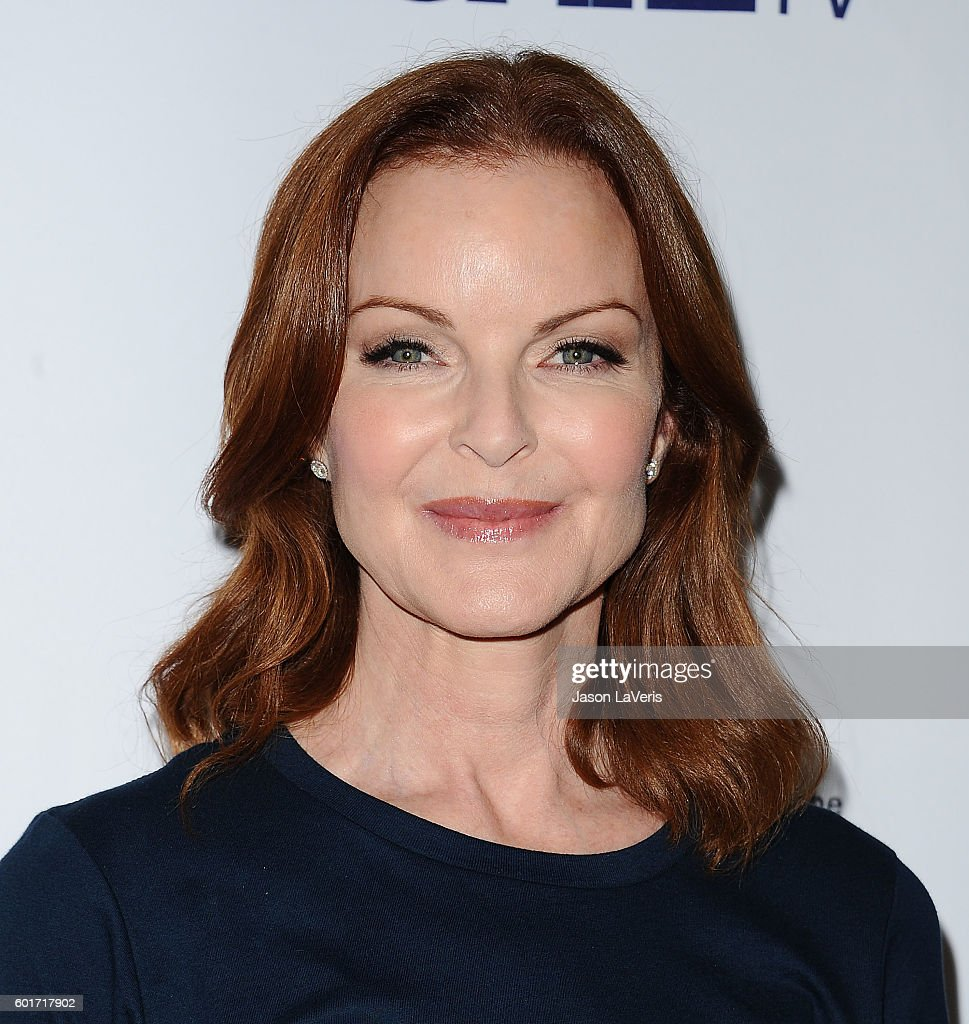 Actress Marcia Cross attends Stand Up To Cancer 2016 at Walt Disney Concert Hall on September 9, 2016 in Los Angeles, California.