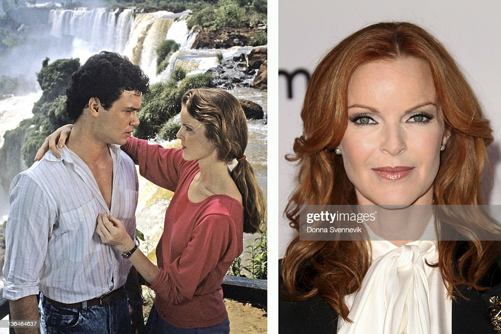 In this composite image a comparison has been made of actress <a gi-track='captionPersonalityLinkClicked' href=/galleries/search?phrase=Marcia+Cross&family=editorial&specificpeople=202844 ng-click='$event.stopPropagation()'>Marcia Cross</a>. Many of today's leading Hollywood stars began their careers in daytime serials. As the US soap opera continues to fail, one of the traditional routes for actors to transition from small screen to box office is disappearing. In the last two years the long-running series 'All My Children,' 'As The World Turns' and the 72 year old 'Guiding Light' have all been cancelled. The final air date of the 43 year old daytime drama 'One Life to Live' on January 13, 2012 will mark the end of soap production in New York City.(RIGHT IMAGE) UNIVERSAL CITY, CA - SEPTEMBER 21: Actress <a gi-track='captionPersonalityLinkClicked' href=/galleries/search?phrase=Marcia+Cross&family=editorial&specificpeople=202844 ng-click='$event.stopPropagation()'>Marcia Cross</a> attends the Disney ABC Television Host 'Desperate Housewives' Final Season Kick-Off Party at Universal Studios on September 21, 2011 in Universal City, California.