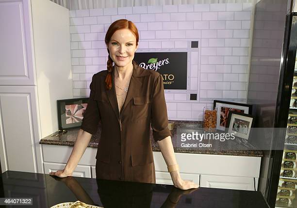 Actress Marcia Cross stopped by the Breyers Gelato Indulgences Lounge backstage at the 30th Annual Film Independent Spirit Awards on February 21 2015...
