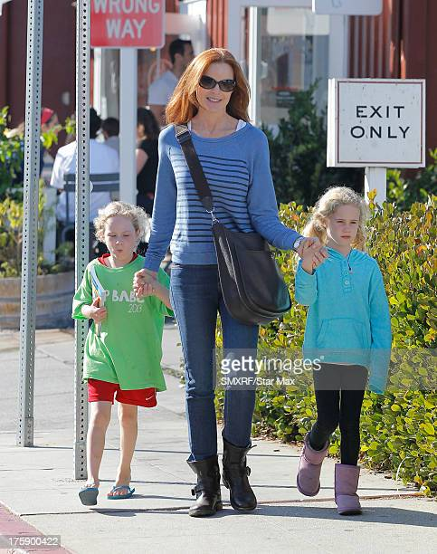 Actress Marcia Cross with Eden Mahoney and Savannah Mahoney as seen on August 9 2013 in Los Angeles California