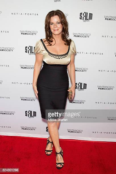 Actress Marcia Gay Harden arrives at Film Society Awards night at 59th San Francisco International Film Festival at Fort Mason Center on April 25...