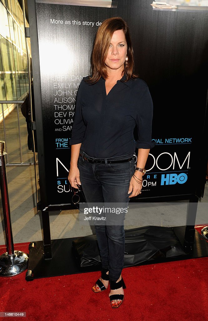 Actress Marcia Gay Harden arrives at HBO's New Series 'Newsroom' Los Angeles Premiere at ArcLight Cinemas Cinerama Dome on June 20, 2012 in Hollywood, California.