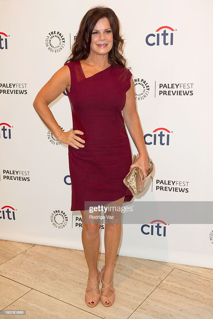 Actress <a gi-track='captionPersonalityLinkClicked' href=/galleries/search?phrase=Marcia+Gay+Harden&family=editorial&specificpeople=202089 ng-click='$event.stopPropagation()'>Marcia Gay Harden</a> arrives at PaleyFestPreviews Fall TV ABC's 'Trophy Wife' And 'Back In The Game' at The Paley Center for Media on September 10, 2013 in Beverly Hills, California.