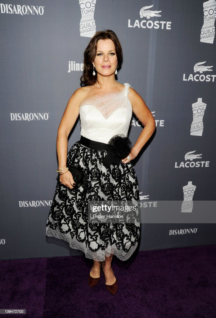 Actress Marcia Gay Harden arrives at the 14th Annual Costume Designers Guild Awards With Presenting Sponsor Lacoste held at The Beverly Hilton hotel on February 21, 2012 in Beverly Hills, California.
