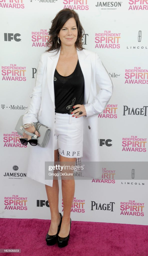 Actress Marcia Gay Harden arrives at the 2013 Film Independent Spirit Awards at Santa Monica Beach on February 23, 2013 in Santa Monica, California.