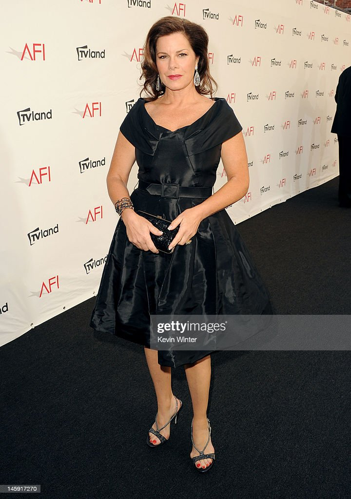 Actress Marcia Gay Harden arrives at the 40th AFI Life Achievement Award honoring Shirley MacLaine held at Sony Pictures Studios on June 7, 2012 in Culver City, California. The AFI Life Achievement Award tribute to Shirley MacLaine will premiere on TV Land on Saturday, June 24 at 9PM