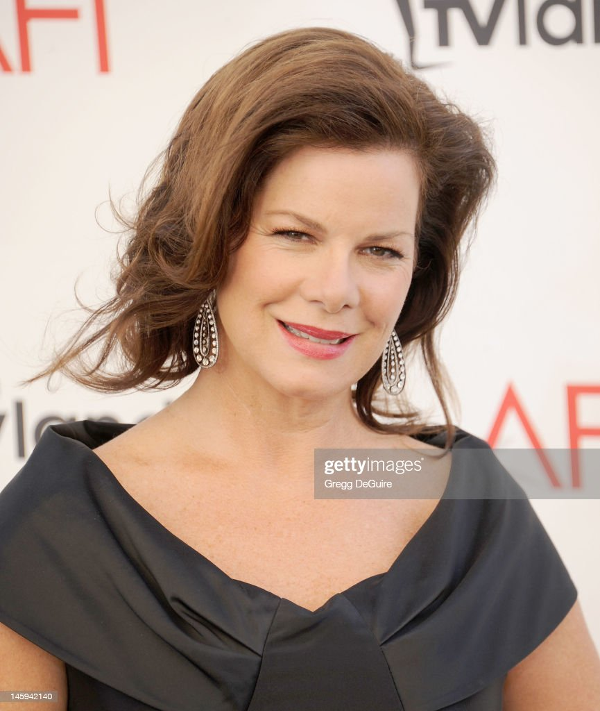 Actress <a gi-track='captionPersonalityLinkClicked' href=/galleries/search?phrase=Marcia+Gay+Harden&family=editorial&specificpeople=202089 ng-click='$event.stopPropagation()'>Marcia Gay Harden</a> arrives at the 40th AFI Life Achievement Award honoring Shirley MacLaine at Sony Studios on June 7, 2012 in Los Angeles, California.