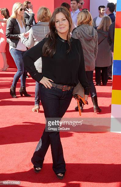 Actress Marcia Gay Harden arrives at the Los Angeles premiere of 'The Lego Movie' at Regency Village Theatre on February 1 2014 in Westwood California