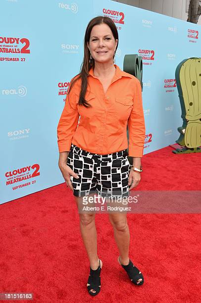 Actress Marcia Gay Harden arrives to the premiere of Columbia Pictures and Sony Pictures Animation's 'Cloudy With A Chance of Meatballs 2' at the...