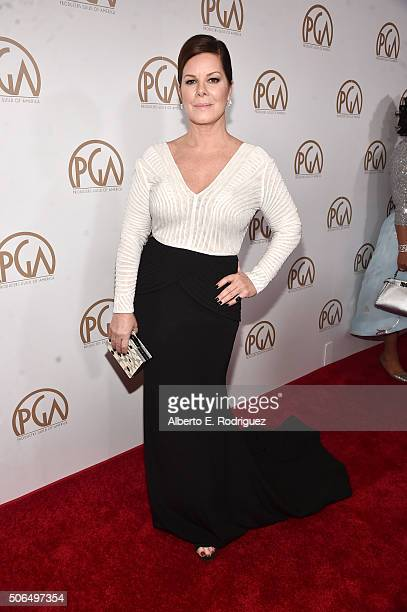Actress Marcia Gay Harden attends 27th Annual Producers Guild Of America Awards at the Hyatt Regency Century Plaza on January 23 2016 in Century City...