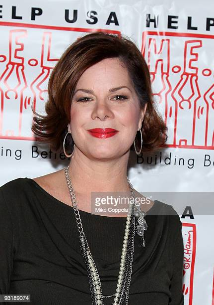 Actress Marcia Gay Harden attends the 2009 Help USA Domestic Violence Survivor Scholarship Awards luncheon at Tavern On The Green on November 18 2009...
