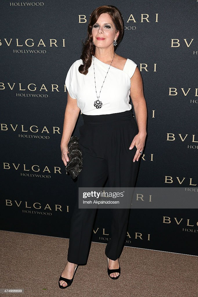 Actress <a gi-track='captionPersonalityLinkClicked' href=/galleries/search?phrase=Marcia+Gay+Harden&family=editorial&specificpeople=202089 ng-click='$event.stopPropagation()'>Marcia Gay Harden</a> attends the BVLGARI 'Decades of Glamour' Oscar Party at Soho House on February 25, 2014 in West Hollywood, California.