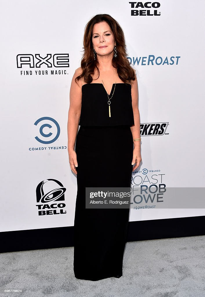 Actress Marcia Gay Harden attends The Comedy Central Roast of Rob Lowe at Sony Studios on August 27, 2016 in Los Angeles, California.