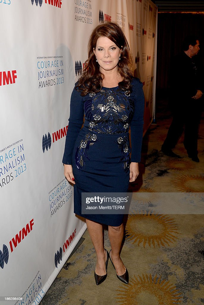 Actress <a gi-track='captionPersonalityLinkClicked' href=/galleries/search?phrase=Marcia+Gay+Harden&family=editorial&specificpeople=202089 ng-click='$event.stopPropagation()'>Marcia Gay Harden</a> attends the International Women's Media Foundation's 2013 Courage in Journalism Awards at the Beverly Hills Hotel on October 29, 2013 in Beverly Hills, California.