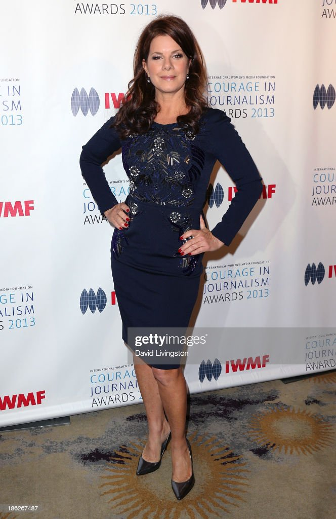 Actress <a gi-track='captionPersonalityLinkClicked' href=/galleries/search?phrase=Marcia+Gay+Harden&family=editorial&specificpeople=202089 ng-click='$event.stopPropagation()'>Marcia Gay Harden</a> attends the IWMF Courage in Journalism Awards 2013 at the Beverly Hills Hotel on October 29, 2013 in Beverly Hills, California.