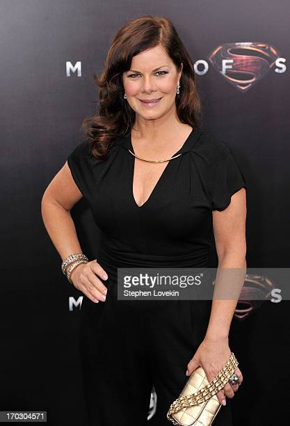 Actress Marcia Gay Harden attends the 'Man Of Steel' world premiere at Alice Tully Hall at Lincoln Center on June 10 2013 in New York City
