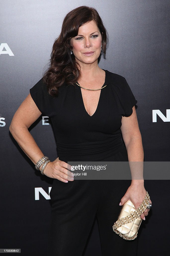 Actress <a gi-track='captionPersonalityLinkClicked' href=/galleries/search?phrase=Marcia+Gay+Harden&family=editorial&specificpeople=202089 ng-click='$event.stopPropagation()'>Marcia Gay Harden</a> attends the 'Man Of Steel' World Premiere at Alice Tully Hall at Lincoln Center on June 10, 2013 in New York City.