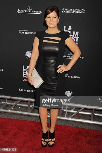 Actress Marcia Gay Harden attends the opening night premiere of 'Grandma' during the 2015 Los Angeles Film Festival at Regal Cinemas LA Live on June...
