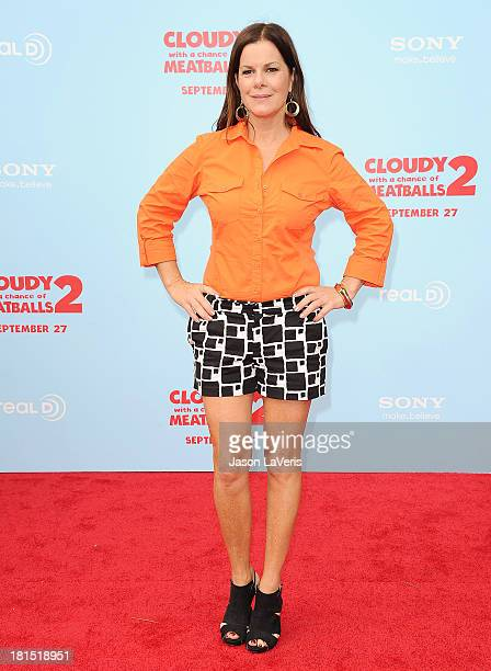 Actress Marcia Gay Harden attends the premiere of 'Cloudy With a Chance of Meatballs 2' at Regency Village Theatre on September 21 2013 in Westwood...