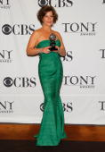 Actress Marcia Gay Harden winner Best Performance by a Leading Actress in a Play for 'God of Carnage' poses in the press room at the 63rd Annual Tony...