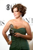 Actress Marcia Gay Harden winner Best Performance by a Leading Actress in a Play for 'God of Carnage' poses in the pressroom at the 63rd Annual Tony...