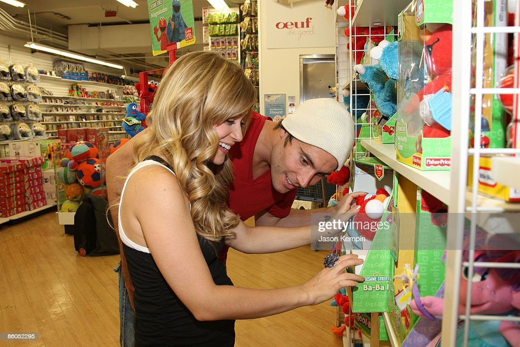 Actress Marcy Rylan and actor Don Money shop at Buy Buy Baby on April 20, 2009 in New York City.