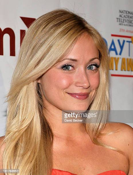 Actress Marcy Rylan arrives at the preparty for the 2010 Daytime Entertainment Emmy Awards at Mix at THEhotel at Mandalay Bay on June 26 2010 in Las...