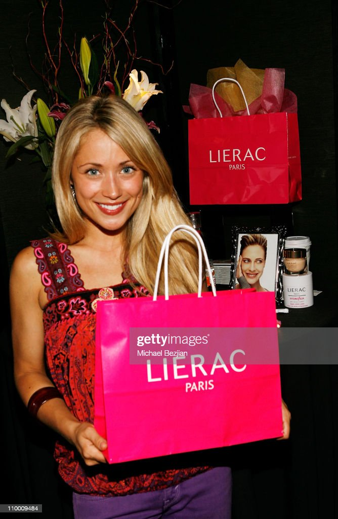 Actress Marcy Rylan poses in the Daytime Emmy official gift lounge produced by On 3 Productions held at the Kodak Theatre on June 19, 2008 in Hollywood, California.