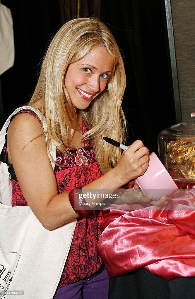 Actress <a gi-track='captionPersonalityLinkClicked' href=/galleries/search?phrase=Marcy+Rylan&family=editorial&specificpeople=3921843 ng-click='$event.stopPropagation()'>Marcy Rylan</a> poses in the Daytime Emmy official gift lounge produced by On 3 Productions held at the Kodak Theatre on June 19, 2008 in Hollywood, California.