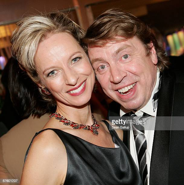 Actress Mareike Carriere and actor Armin Rohde attend the aftershow party at the German Film Awards at the Palais am Funkturm May 12 2006 in Berlin...
