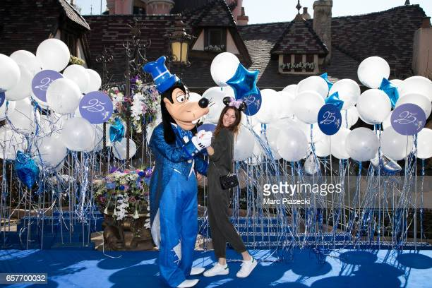 Actress Mareva Galanter attends the Disneyland Paris 25th Anniversary at Disneyland Paris on March 25 2017 in Paris France