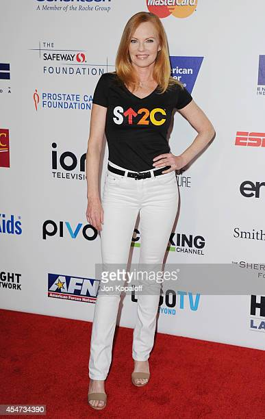 Actress Marg Helgenberger arrives at Hollywood Unites For The 4th Biennial Stand Up To Cancer A Program Of The Entertainment Industry Foundation at...
