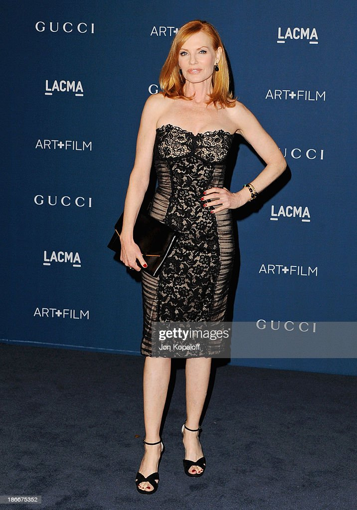 Actress <a gi-track='captionPersonalityLinkClicked' href=/galleries/search?phrase=Marg+Helgenberger&family=editorial&specificpeople=201493 ng-click='$event.stopPropagation()'>Marg Helgenberger</a> arrives at LACMA 2013 Art + Film Gala at LACMA on November 2, 2013 in Los Angeles, California.