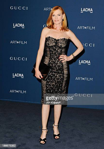 Actress Marg Helgenberger arrives at LACMA 2013 Art Film Gala at LACMA on November 2 2013 in Los Angeles California
