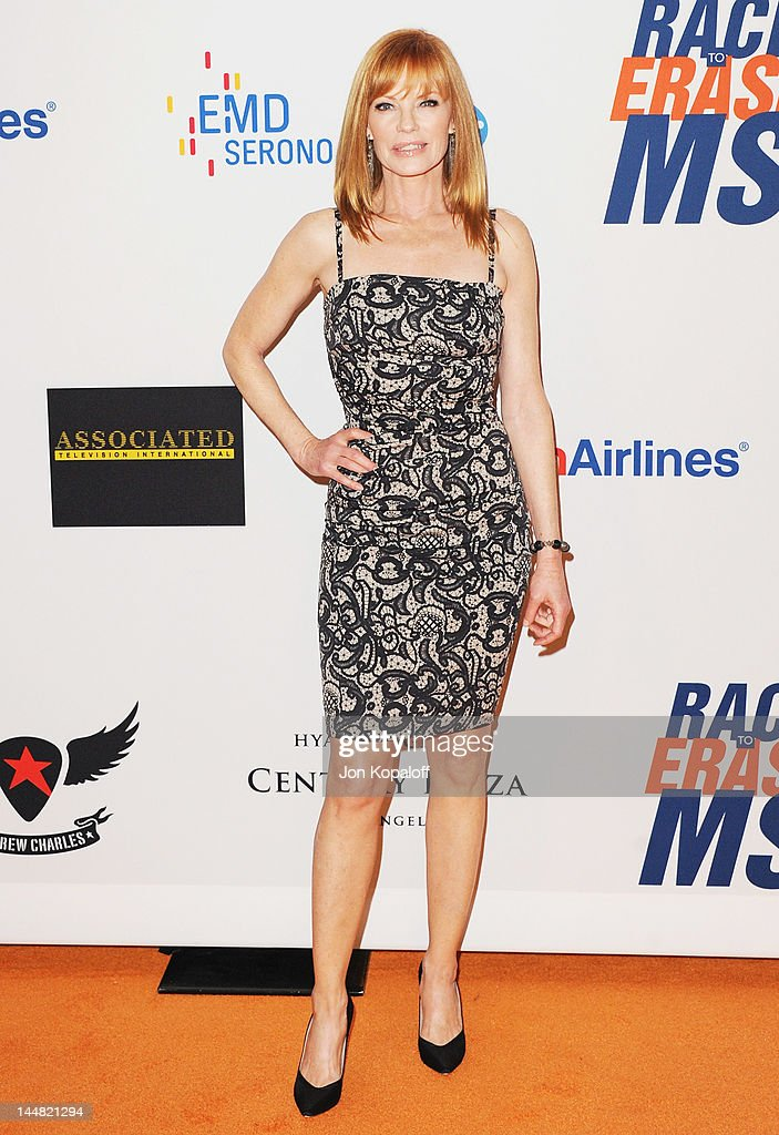 Actress <a gi-track='captionPersonalityLinkClicked' href=/galleries/search?phrase=Marg+Helgenberger&family=editorial&specificpeople=201493 ng-click='$event.stopPropagation()'>Marg Helgenberger</a> arrives at the 19th Annual Race To Erase MS Event at the Hyatt Regency Century Plaza on May 18, 2012 in Century City, California.