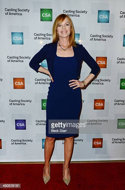 Actress Marg Helgenberger arrives at the 2013 Casting Society of America's Artios Awards at The Beverly Hilton Hotel on November 18 2013 in Beverly...